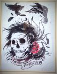 Crows Over The Skull by rafabersi