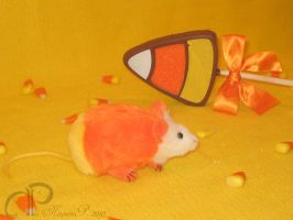 Candy Corn Mouse Plushie by Morumoto
