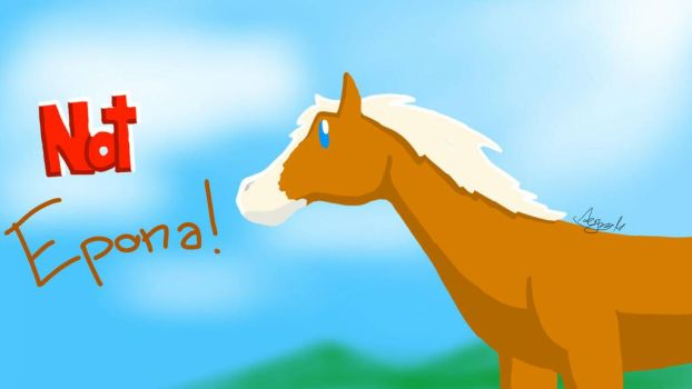 Not Epona (quick sketch) by Musimoo