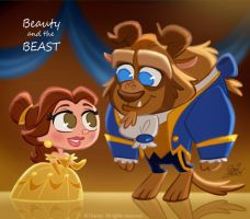 50 Chibis Disney: Beauty Beast by princekido