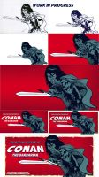The Savage Sword Of Conan (process) by EttoBascianoWorks