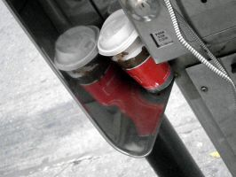 phone booth harboring coffee cup by ginseng