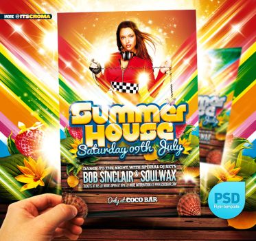 PSD Spring Break party Flyer by itscroma