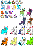 VERY LARGE ADOPT DUMP! ALL 1 POINT by MilkshakeAdopts