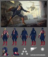 Captain America Redesign by DanielHeard