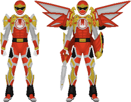 Power Rangers Ninja Storm, Tri-Battlized Armor by Taiko554