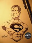 Inktober Day 7 - Superman! by NyleLevi