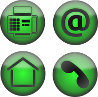Set of four contact icons by PomPrint