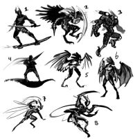 Aerial fighter thumbs by LhuneArt