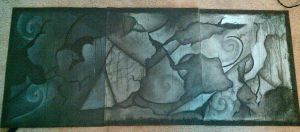 Abstract Triptych by emburkett