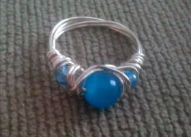 Glacier Eye ring by WyckedDreamsDesigns