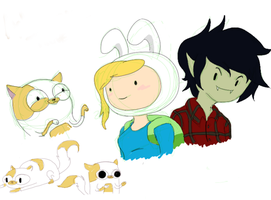 AT: Fionna, Cake, Marshall Lee by ToniBolonie