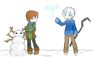 Hiccup and Jack Frost by ameiliaketchum