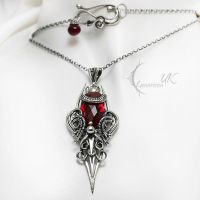 MYINTIEELH - silver and red quartz by LUNARIEEN