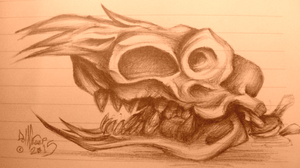 pen skull 3 by DollCreep