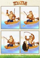 Wuffle goes fishing by PitiYindee