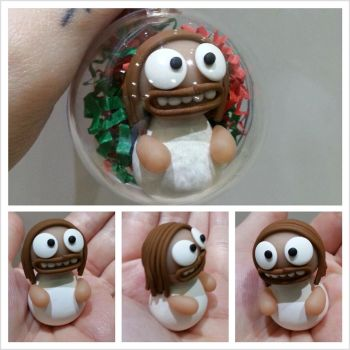 Jesus Bauble by kirstipoo
