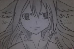 [Fairy Tail] Mavis Vermillion Sketch by paularjfv99
