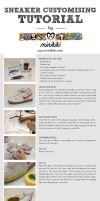 Sneaker customising tutorial by minikikiart