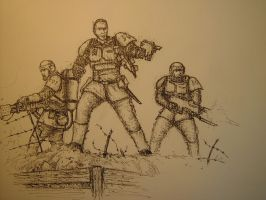 Cadian Charge by WandelnderFlohsack