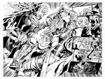 Red Sonja #6 pages 06-07 by wgpencil