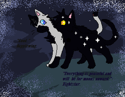 Dapplewing taking a visit from Nightstar by skyclan199
