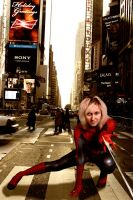 Spider Girl body paint (ninja edit) NYC by editingninja