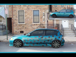 Teal Allstar Civic Wallpaper by fastworks