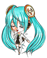 Commission- Chibi Miku (Diva Project Ver.) by ksdestiny