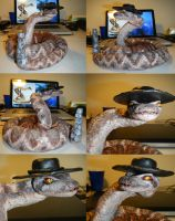Rattlesnake jake sculpture by Ravenfire5