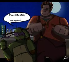 Ralph was in the game TMNT ... by Netrorev
