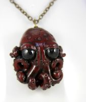 Baby Octopus Necklace by NeverlandJewelry