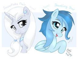 Snowflake Flair and Shooting Star by Kumkrum by Joakaha