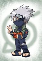 Kakashi chibi 'colored' by Evolvana