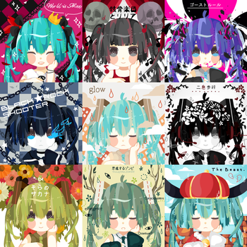 Miku Free Icons 2 by monk-moose
