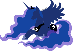 Princess Luna silhouette by Silverarrow87