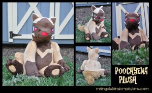 Shiny Poochyena Plush by MangoIsland