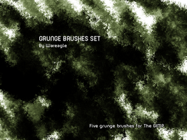My own grunge brushes- GIMP by Wareagle4Design