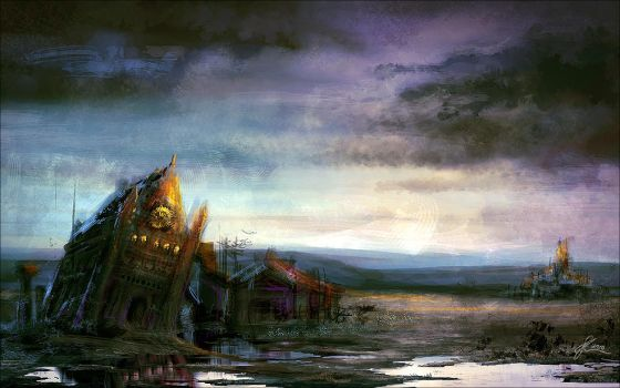 ruined church by weremoon