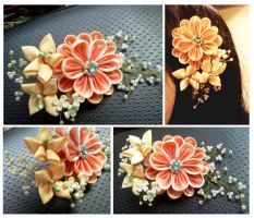 Hair decoration bouquet by CovenEye