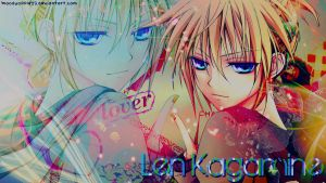 Len Kagamine Wallpaper edit by BloodyApple by BloodyApple23