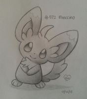 #572 Minccino by Bluekiss131
