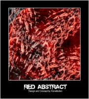 Red Abstract by Konstitution
