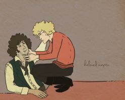 beloved sceptic - Enjolras/Grantaire by plushfox