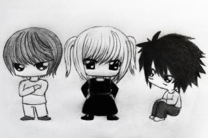 death note chibis xp by agarest-of-war