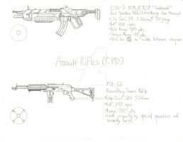 ThroughNineEyes Concepts: CPD Assault Rifles by Primogenitor34