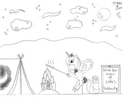 Camping with Princess Luna by GoggleSparks
