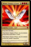 MTG: Michael, Champion of Flame by SilverRaven13