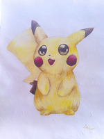 Pika Pika by AmethystCreatures
