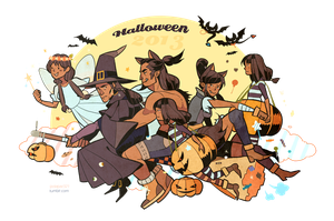 LOK book2-Water tribe family Halloween time! by freestarisis